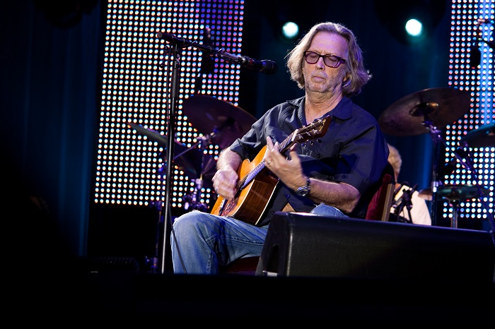 eric clapton playing used martin guitars