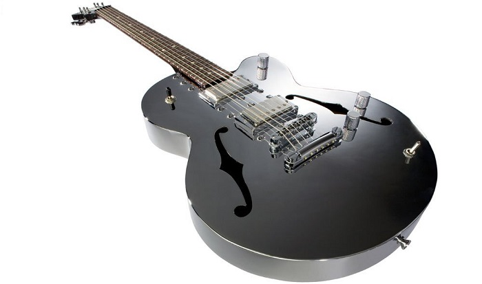 Normandy ATGHT-CH Archtop Guitar, Chrome