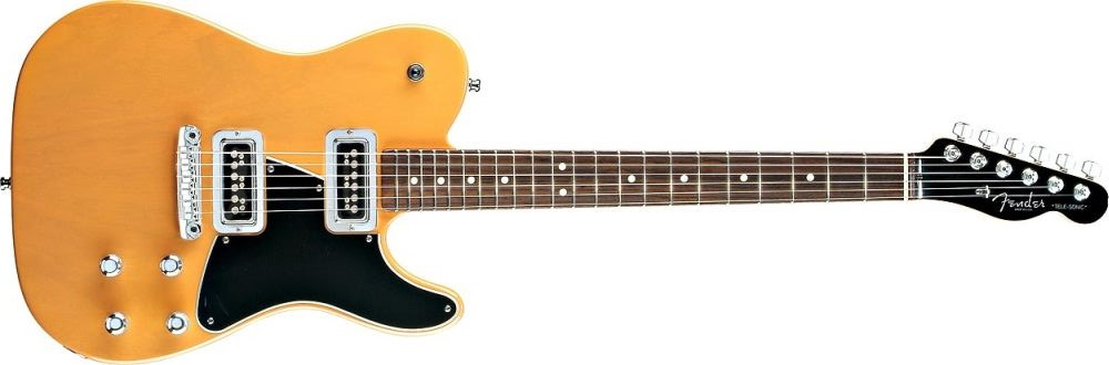 Fender Telesonic natural and black