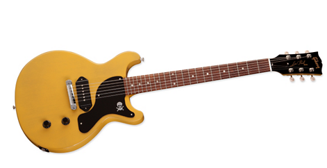 Photo of the Billie Joe Armstrong Les Paul Junior Double-Cut -- another Gibson Les Paul special electric guitar.