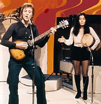 John Lennon playing a Les Paul Junior.