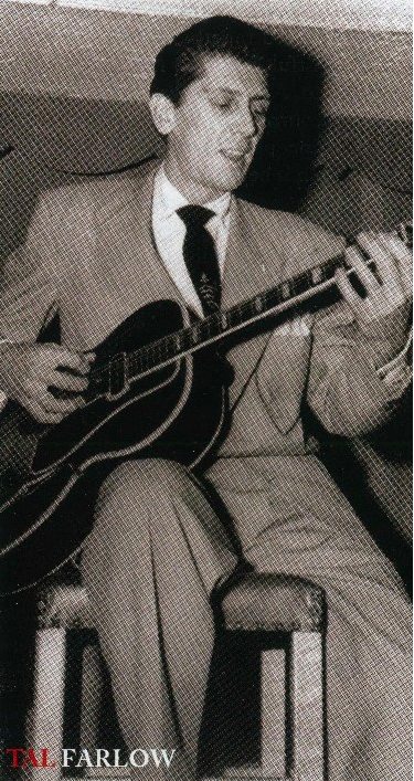 Photo with Tal Farlow playing his Gibson ES-250.
