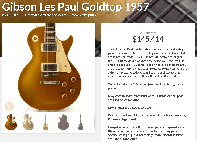 Photo: 1967 Goldtop Gibson guitars for sale.